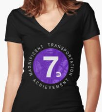 7 Train Women's Fitted V-Neck T-Shirt