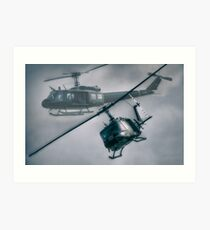 Bell UH-1H Helicopter (Huey 509) Art Print