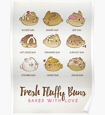 Fresh Fluffy Buns Poster