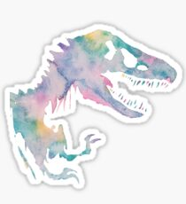 Watercolor Jurassic (black) Sticker
