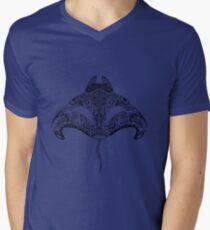 Tribal Manta Ray V-Neck T-Shirt