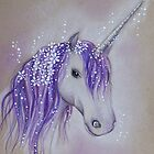 Lilac Dreaming Unicorn by Helenfaerieart