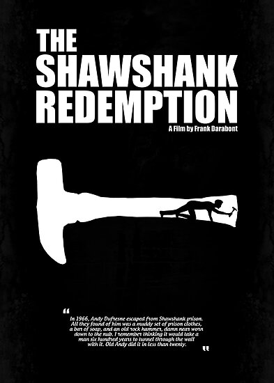 The shawshank redemption a minimal movie poster a movie by frank darabont by