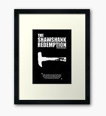 The Shawshank Redemption - A Minimal Movie Poster. A Film by Frank Darabont. Framed Print