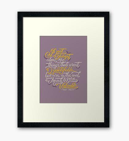 Quantifiable Framed Print