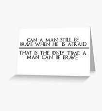 Ned Stark Quote Greeting Card