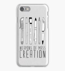 Weapons Of Mass Creation iPhone Case/Skin