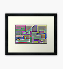 Blocks of Blocks Framed Print