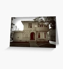 Victorian House Monochrome Greeting Card