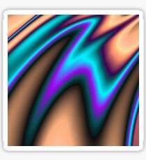 Abstract Fractal Colorways 03 Southwestern Sticker