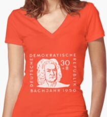 Johann Sebastian Bach (Bachjahr 1950) Women's Fitted V-Neck T-Shirt