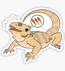 surprised lizard Sticker