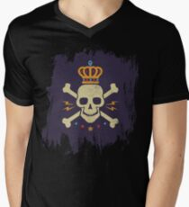 Skull and crown Mens V-Neck T-Shirt