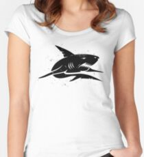 black shark Women's Fitted Scoop T-Shirt