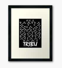 Tribu, Ancient script Framed Print