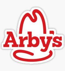 arbys logo die cut Sticker