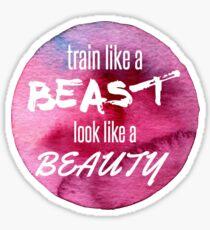 Beauty/Beast Workout Sticker
