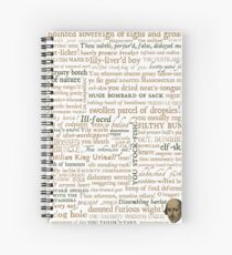 Shakespeare's Insults Collection - Revised Edition (by incognita) Spiral Notebook