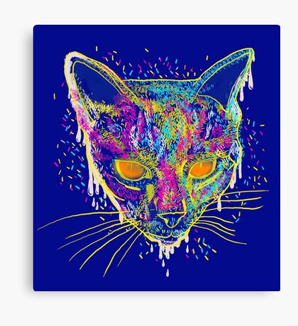 candy cat Canvas Print