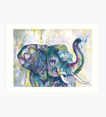 Afrikanischer Elefantentänzer Kunstdruck