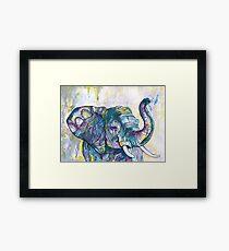 Afrikanischer Elefantentänzer Gerahmtes Wandbild