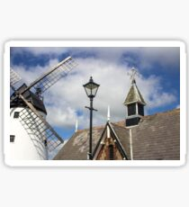 Unusual View of Windmill at Lytham St. Annes - England Sticker