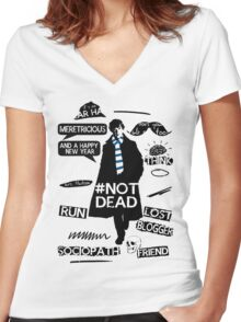 Sherlock quotes Women's Fitted V-Neck T-Shirt