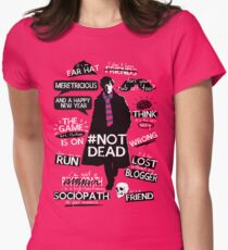 Sherlock quotes Womens Fitted T-Shirt