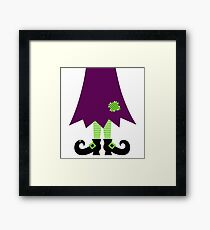 Vector - Stylized retro Witch legs Framed Print