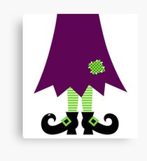 Vector - Stylized retro Witch legs Canvas Print