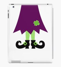Vector - Stylized retro Witch legs iPad Case/Skin