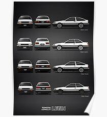 AE86 - Toyota Corolla Levin Poster