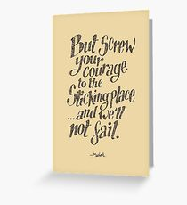 If we should fail? Greeting Card