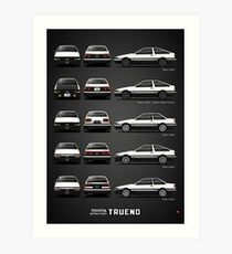 AE86 - Toyota Sprinter Trueno Kunstdruck