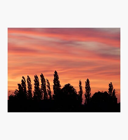 Golden sky Photographic Print