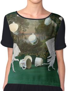 Mad Tea Party: The aftermath Women's Chiffon Top