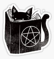 witchcraft cat Sticker