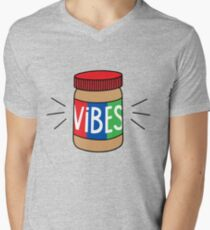 Peanut Butter Vibes Men's V-Neck T-Shirt