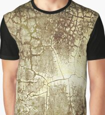 Brown Crackle Graphic T-Shirt