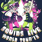 squids live world tour!  by coinbox tees