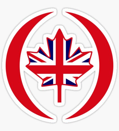British Canadian Multinational Patriot Flag Series Sticker