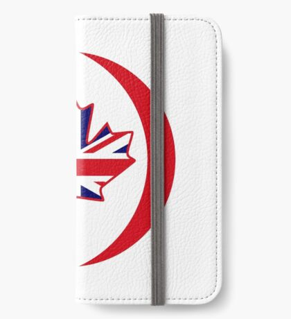 British Canadian Multinational Patriot Flag Series iPhone Wallet