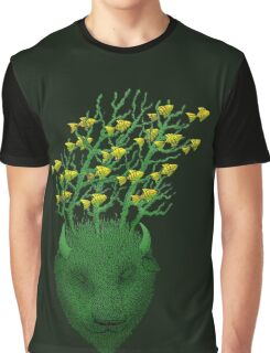Sea Buffalo Dreaming Green Heart  Graphic T-Shirt