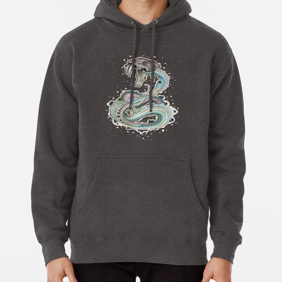 Saber-toothed Serpent in Space Pullover Hoodie