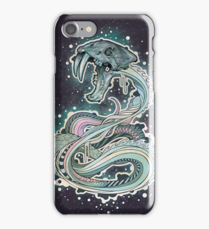 Saber-toothed Serpent in Space iPhone Case/Skin