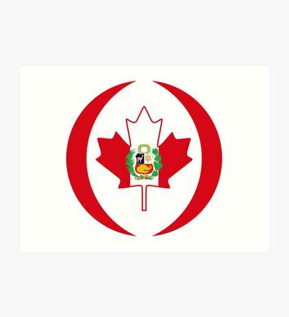 Peruvian Canadian Multinational Patriot Flag Series Art Print