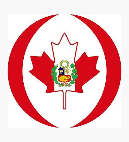 Peruvian Canadian Multinational Patriot Flag Series Photographic Print