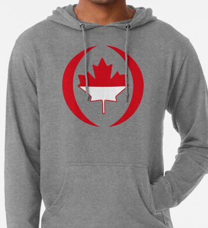 Indonesian Canadian Multinational Patriot Flag Series Lightweight Hoodie
