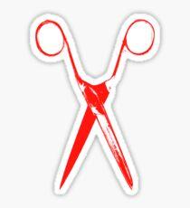 Scissors - red Sticker
