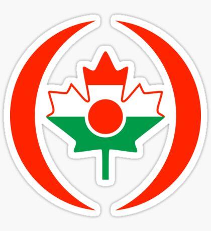 Niger Canadian Multinational Patriot Flag Series Sticker